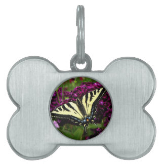 Swallowtail on the Butterfly Bush Pet Name Tag