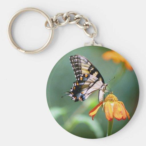 Swallowtail on Tithonia Keychain