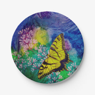 Swallowtail Paper Plates 7 Inch Paper Plate