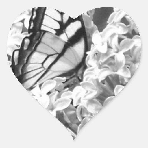 Swallowtail Calcomanías Corazones