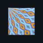 """Swallowtail Redux Medallion Cloth Napkin<br><div class=""""desc"""">You&#39;ll love these bold napkins featuring a spellbinding medallion pattern in blue and orange created from the artist&#39;s original photograph of a swallowtail butterfly&#39;s wing! Choose from cocktail or dinner size.</div>"""