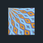 "Swallowtail Redux Medallion Cloth Napkin<br><div class=""desc"">You&#39;ll love these bold napkins featuring a spellbinding medallion pattern in blue and orange created from the artist&#39;s original photograph of a swallowtail butterfly&#39;s wing! Choose from cocktail or dinner size.</div>"