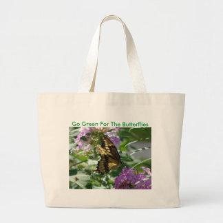 Swallowtail, va verde para las mariposas bolsa tela grande