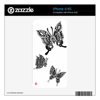 swallowtailed butterfly アゲハチョウ skin for iPhone 4