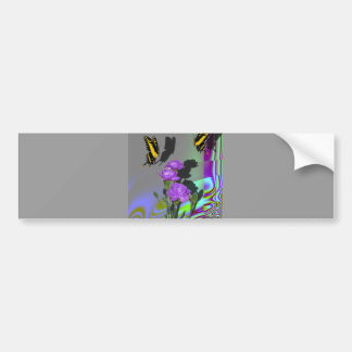 Swallowtails and Carnations Bumper Sticker
