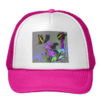 Swallowtails and Carnations Trucker Hat