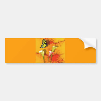 Swallowtails and Lilys Bumper Sticker