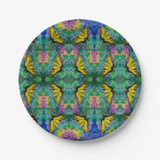 Swallowtails Paper Plates 7 Inch Paper Plate
