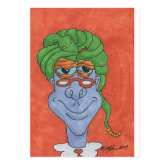 Swami the Monster Postcard