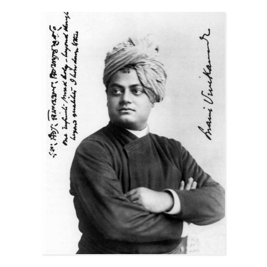 Swami Vivekananada in America 1893 Vintage Post Postcard