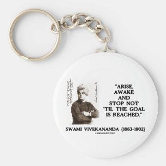 Swami Vivekananda Arise Awake Stop Not 'Til Goal Keychains