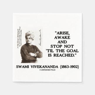 Swami Vivekananda Arise Awake Stop Not 'Til Goal Napkin