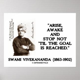 Swami Vivekananda Arise Awake Stop Not Til Goal Poster
