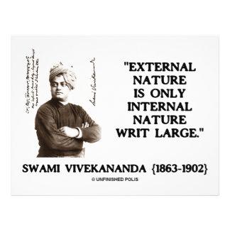 "Swami Vivekananda External Nature Internal Nature 8.5"" X 11"" Flyer"