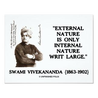 Swami Vivekananda External Nature Internal Nature Card