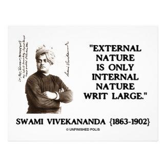 Swami Vivekananda External Nature Internal Nature Letterhead Design