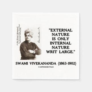 Swami Vivekananda External Nature Internal Nature Paper Napkin