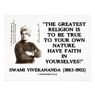 Swami Vivekananda Greatest Religion Be True Faith Custom Letterhead