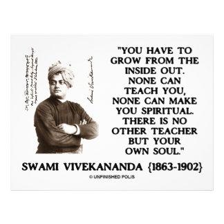 "Swami Vivekananda Grow From Inside Out Own Teacher 8.5"" X 11"" Flyer"