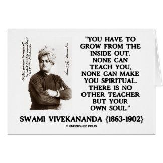 Swami Vivekananda Grow From Inside Out Own Teacher Card