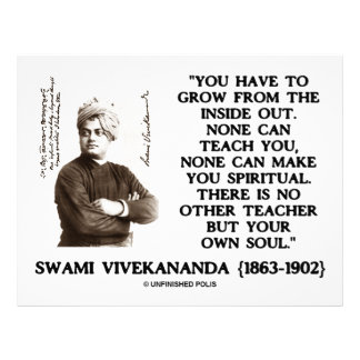 Swami Vivekananda Grow From Inside Out Own Teacher Letterhead Design