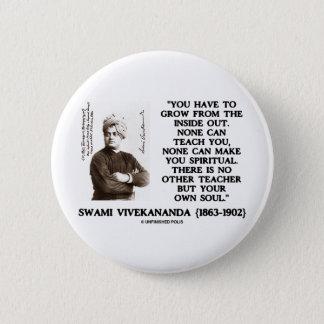 Swami Vivekananda Grow From Inside Out Spiritual Pinback Button