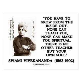 Swami Vivekananda Grow From Inside Out Spiritual Postcard
