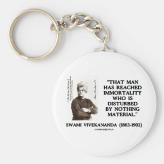 Swami Vivekananda Man Reached Immortality Material Basic Round Button Keychain