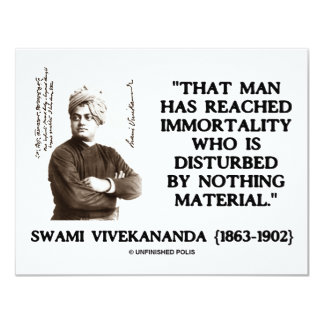Swami Vivekananda Man Reached Immortality Material Card