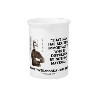 Swami Vivekananda Man Reached Immortality Material Drink Pitchers