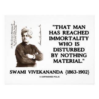 Swami Vivekananda Man Reached Immortality Material Flyers