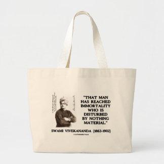 Swami Vivekananda Man Reached Immortality Material Large Tote Bag