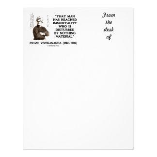 Swami Vivekananda Man Reached Immortality Material Letterhead Design