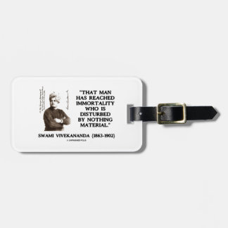 Swami Vivekananda Man Reached Immortality Material Luggage Tag