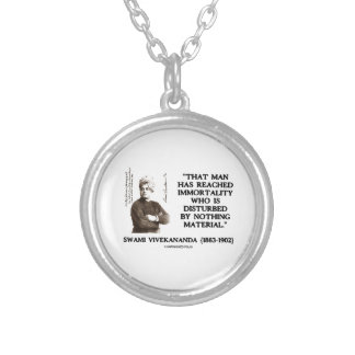 Swami Vivekananda Man Reached Immortality Material Silver Plated Necklace