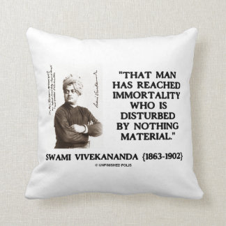 Swami Vivekananda Man Reached Immortality Material Throw Pillow
