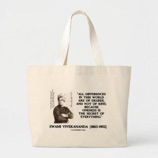 Swami Vivekananda Oneness Secret Of Everything Large Tote Bag