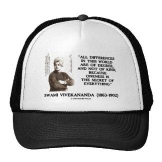 Swami Vivekananda Oneness Secret Of Everything Trucker Hat