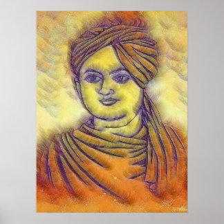 Swami Vivekananda Portrait Poster