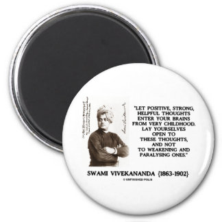 Swami Vivekananda Positive Strong Helpful Thoughts 2 Inch Round Magnet