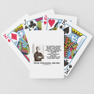 Swami Vivekananda Positive Strong Helpful Thoughts Bicycle Playing Cards