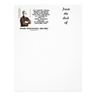 Swami Vivekananda Positive Strong Helpful Thoughts Custom Letterhead