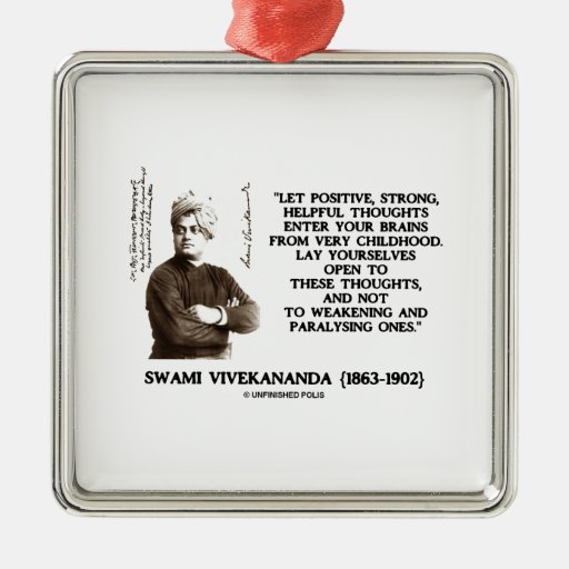 Swami Vivekananda Positive Strong Helpful Thoughts Christmas Ornaments