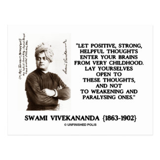 Swami Vivekananda Positive Strong Helpful Thoughts Postcards