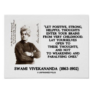 Swami Vivekananda Positive Strong Helpful Thoughts Poster