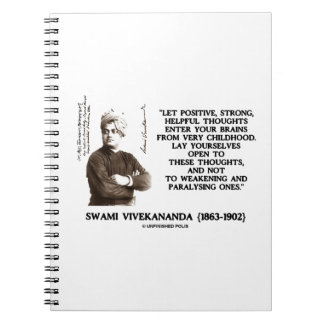 Swami Vivekananda Positive Strong Helpful Thoughts Spiral Notebook