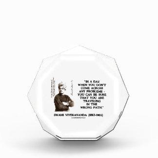Swami Vivekananda Problems Traveling Wrong Path Acrylic Award