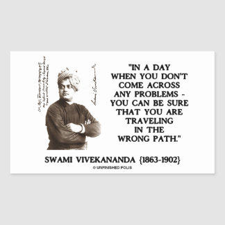 Swami Vivekananda Problems Traveling Wrong Path Rectangular Sticker