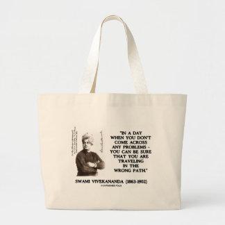 Swami Vivekananda Traveling In Wrong Path Large Tote Bag