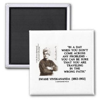 Swami Vivekananda Traveling In Wrong Path Fridge Magnet